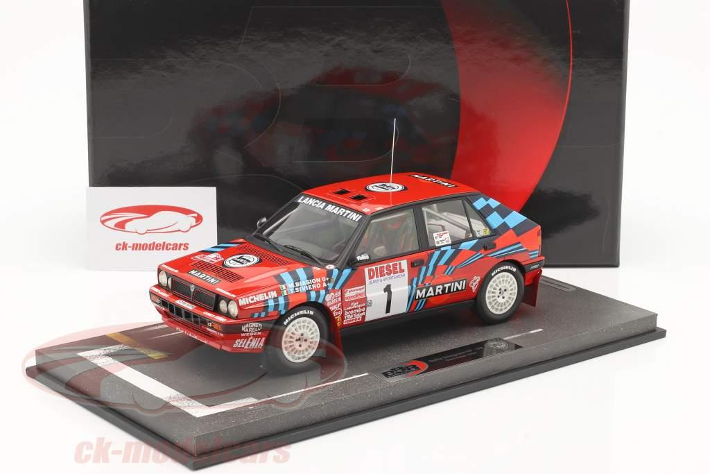 Lancia Delta HF Integrale #1 gagnant Rallye SanRemo 1989 Biasion, Siviero 1:18 BBR