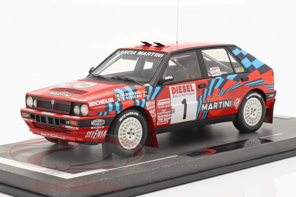 Lancia Delta HF Integrale #1 vencedora Rallye SanRemo 1989 Biasion, Siviero 1:18 BBR