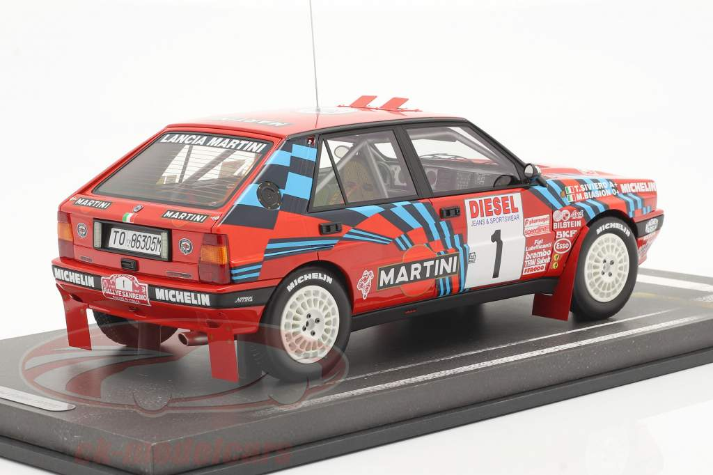 Lancia Delta HF Integrale #1 vincitore Rallye SanRemo 1989 Biasion, Siviero 1:18 BBR