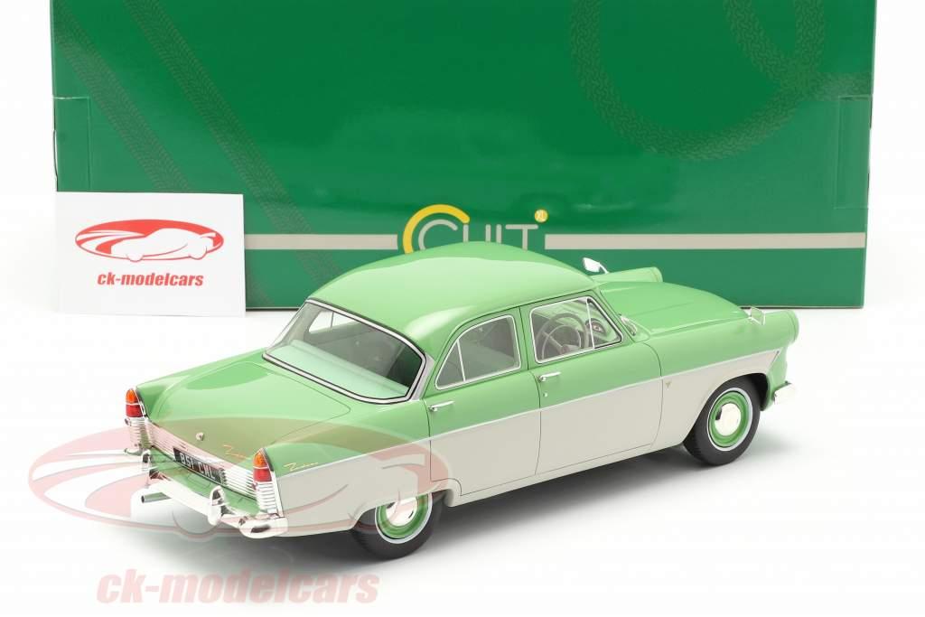 Ford Zodiac 206E Año de construcción 1957 ligero verde / beige 1:18 Cult Scale