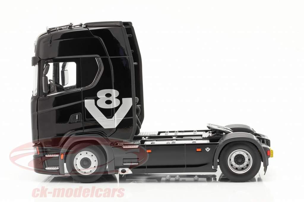 Scania V8 730S 4x2 Camión negro 1:18 NZG