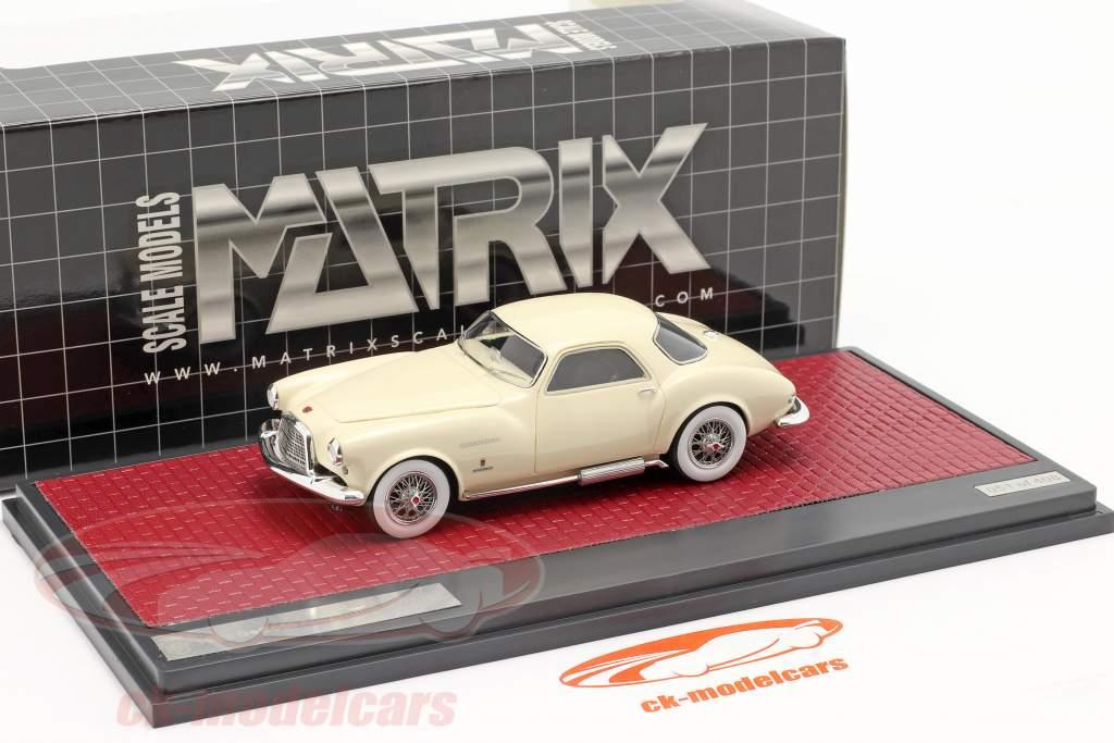 DeSoto Adventurer 1 Ghia Año de construcción 1953 crema Blanco 1:43 Matrix