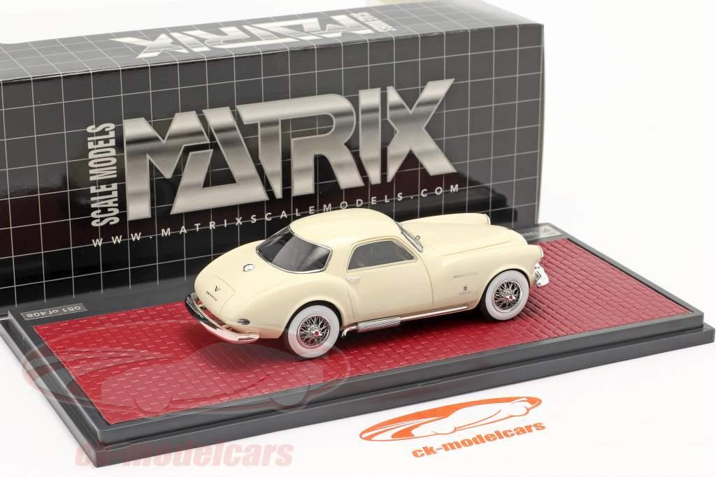 DeSoto Adventurer 1 Ghia Année de construction 1953 crème blanc 1:43 Matrix