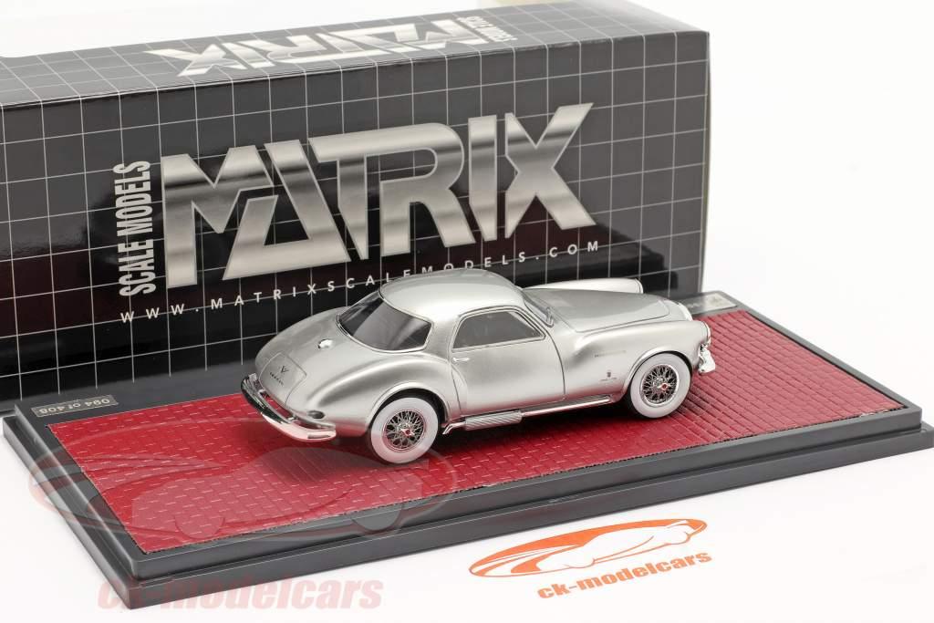 DeSoto Adventurer 1 Ghia year 1953 silver metallic 1:43 Matrix
