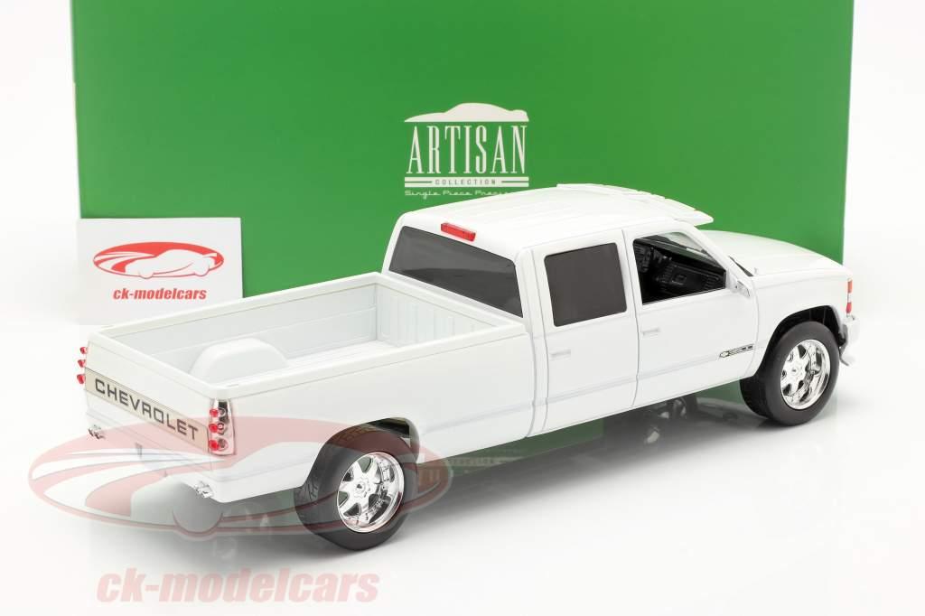 Chevrolet 3500 Crew Cab Silverado PickUp 1997 hvid 1:18 Greenlight