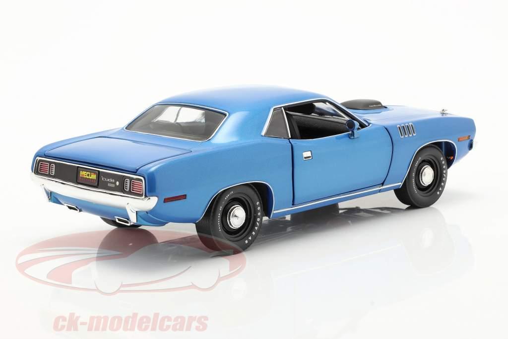 Plymouth Hemi Cuda year 1971 blue metallic 1:18 Highway61