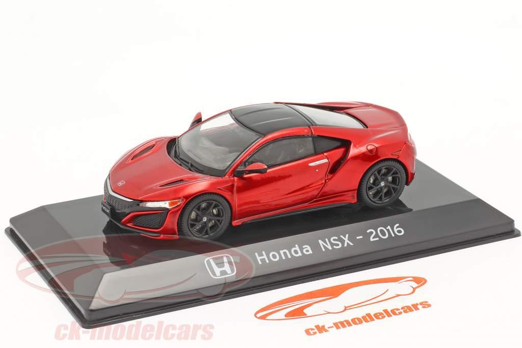 Honda NSX Anno di costruzione 2016 rosso metallico 1:43 Altaya
