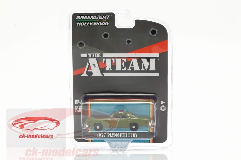 Plymouth Fury 1977 Series de Televisión The A-Team (1983-87) Ejército verde 1:64 Greenlight