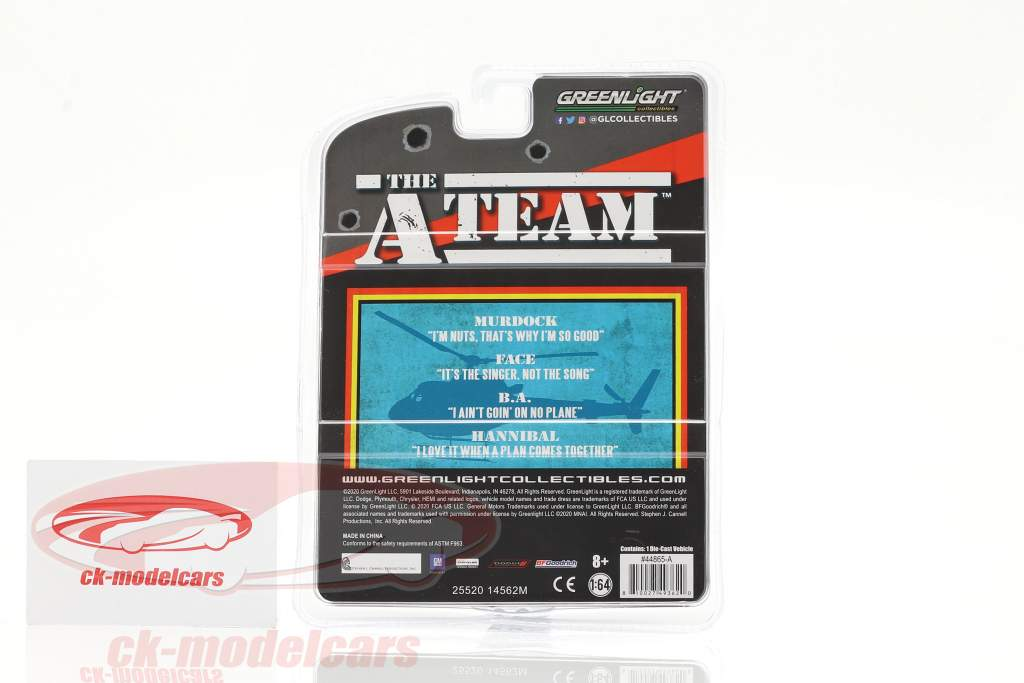 Plymouth Fury 1977 TV series The A-Team (1983-87) army green 1:64 Greenlight