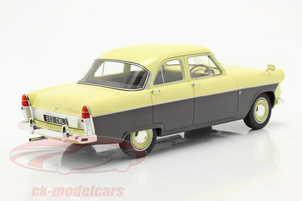 Ford Zodiac 206E Año de construcción 1957 amarillo / gris oscuro 1:18 Cult Scale