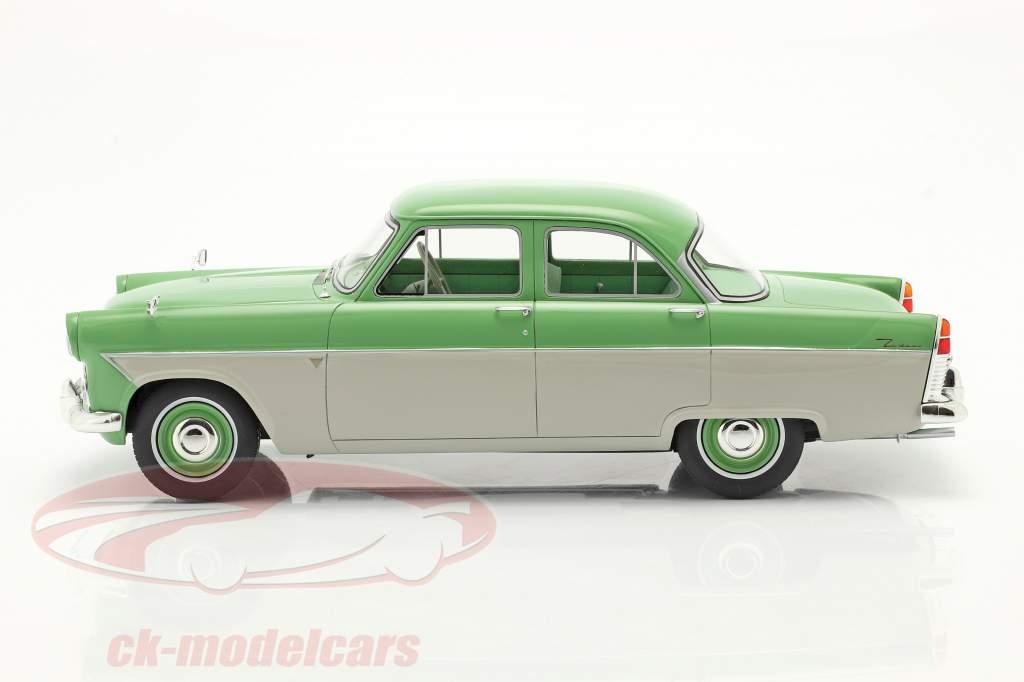 Ford Zodiac 206E Byggeår 1957 lys grøn / beige 1:18 Cult Scale