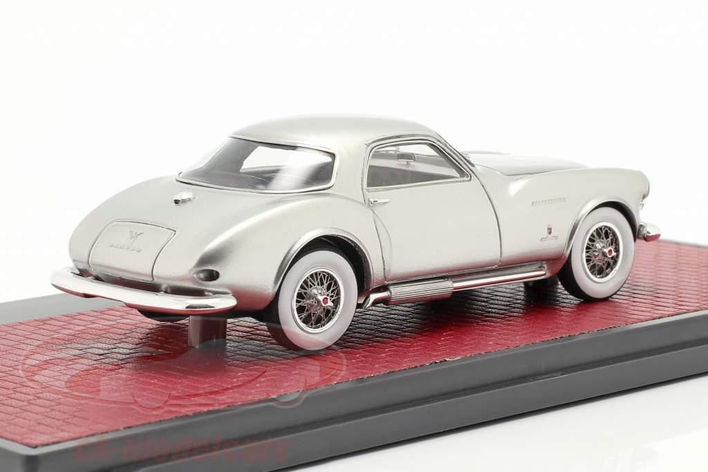DeSoto Adventurer 1 Ghia Byggeår 1953 sølv metallisk 1:43 Matrix