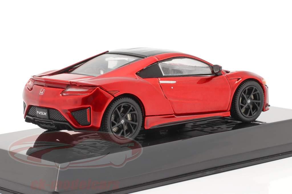 Honda NSX Ano de construção 2016 vermelho metálico 1:43 Altaya