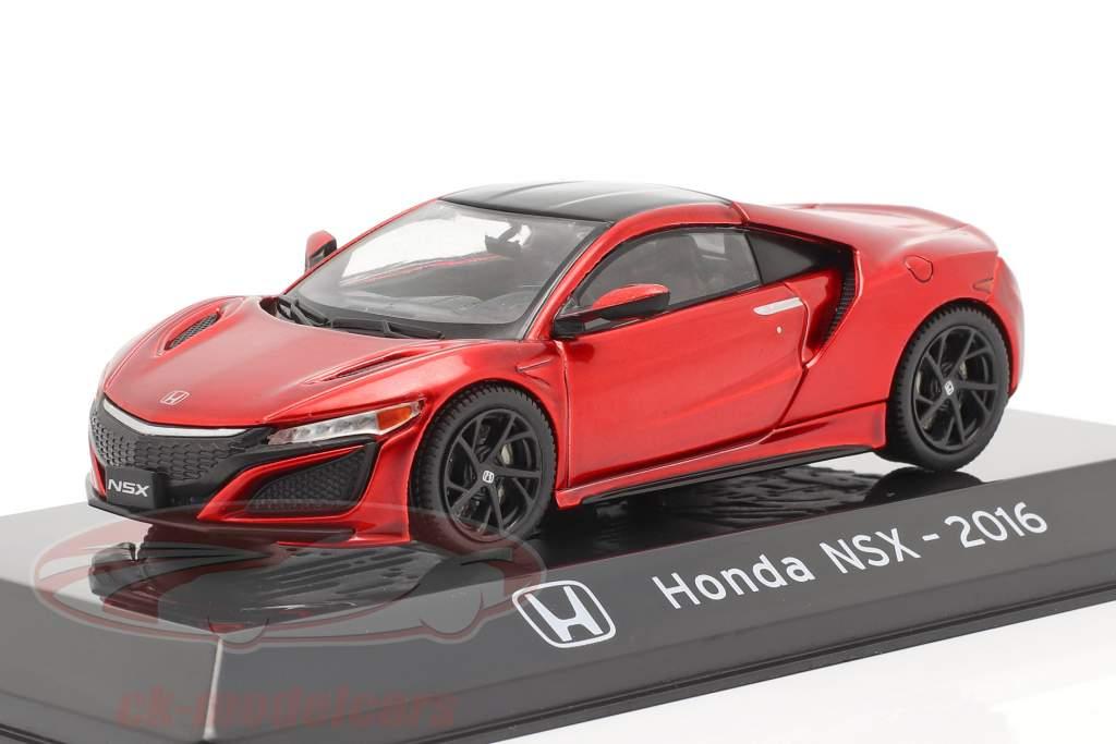 Honda NSX Bouwjaar 2016 rood metalen 1:43 Altaya