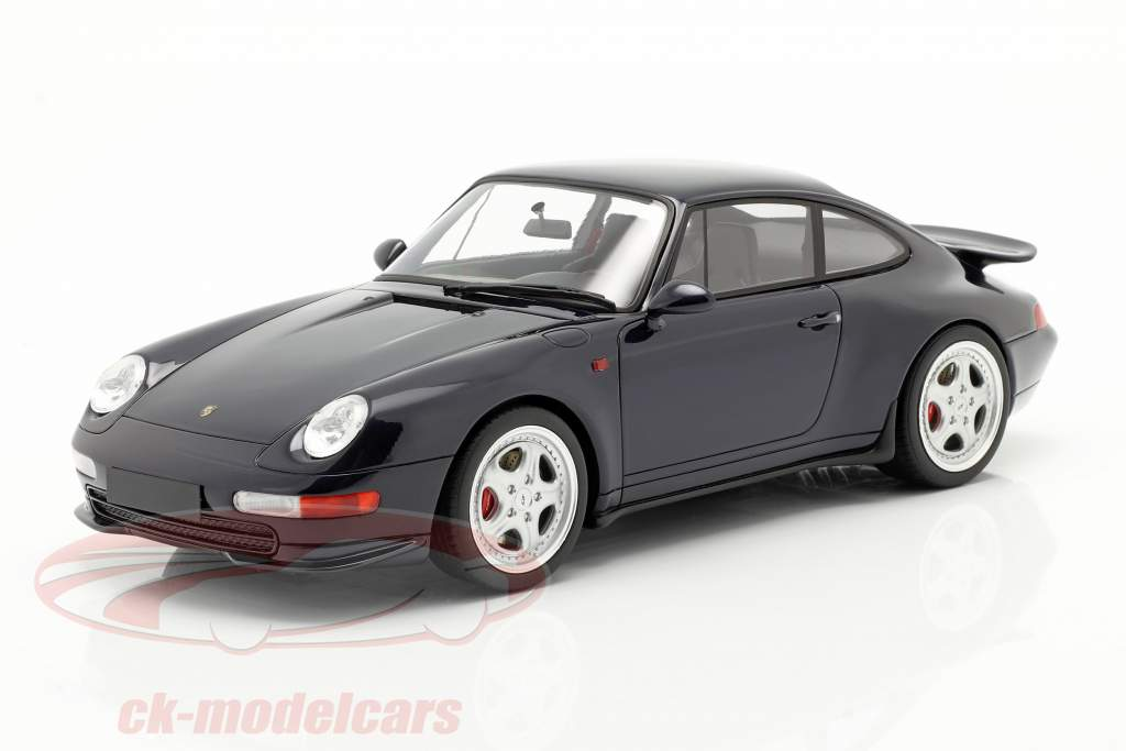 Porsche 911 (993) RS Coupe Bouwjaar 1995 middernacht blauw 1:18 GT-Spirit