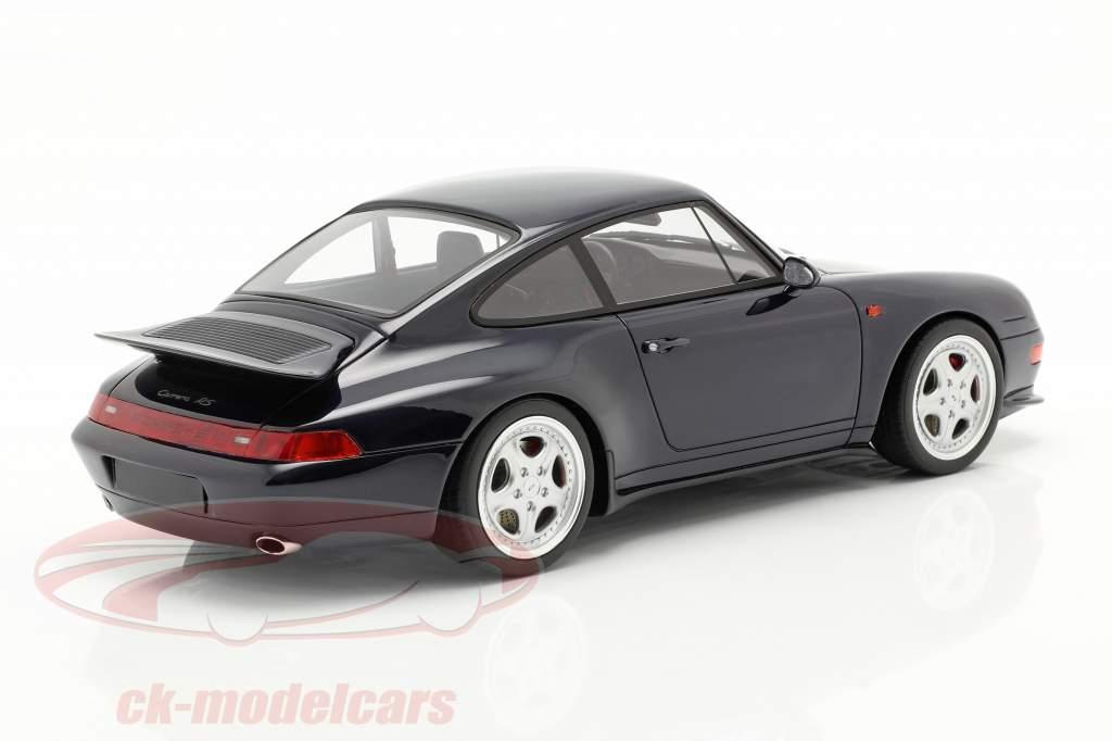 Porsche 911 (993) RS Coupe Anno di costruzione 1995 mezzanotte blu 1:18 GT-Spirit