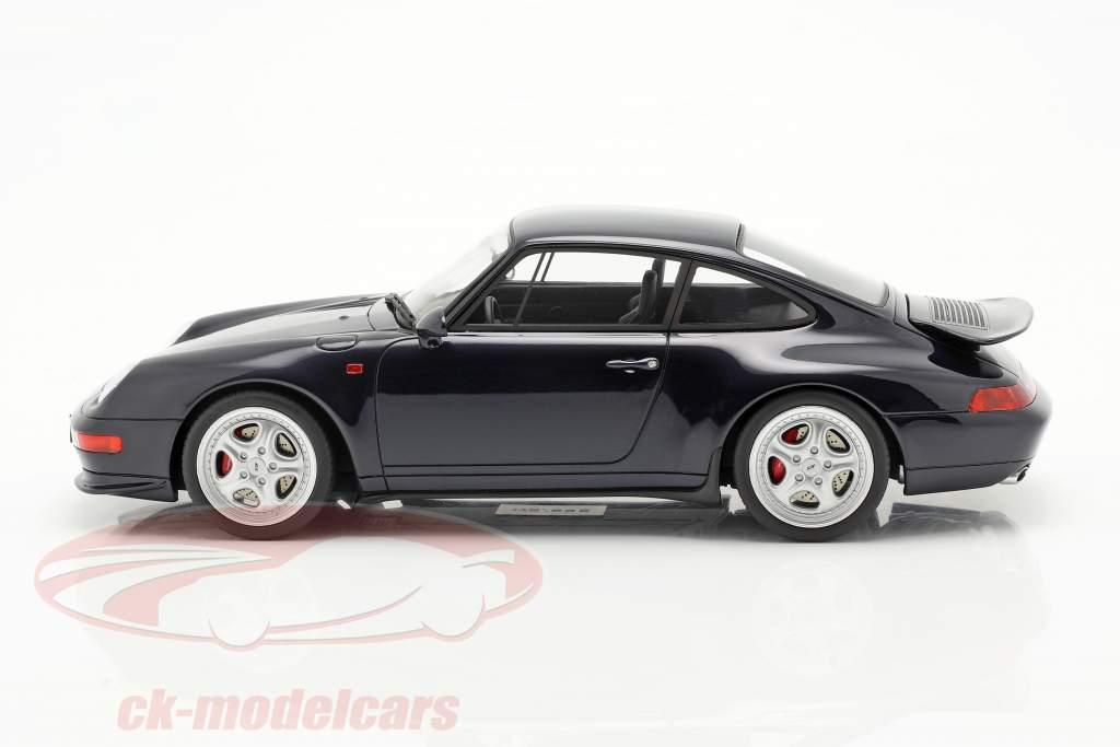 Porsche 911 (993) RS Coupe Byggeår 1995 midnat blå 1:18 GT-Spirit