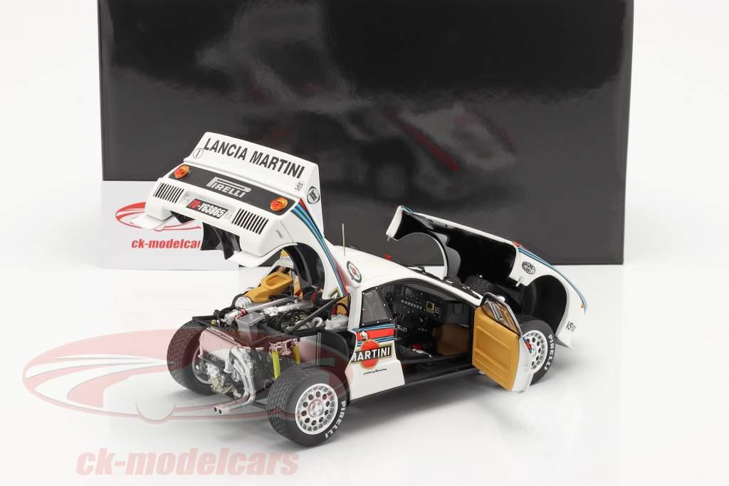 Lancia 037 Rally #1 gagnant Rallye Monte Carlo 1983 Röhrl, Geistdörfer 1:18 Kyosho