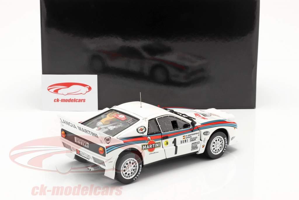 Lancia 037 Rally #1 winner Rallye Monte Carlo 1983 Röhrl, Geistdörfer 1:18 Kyosho