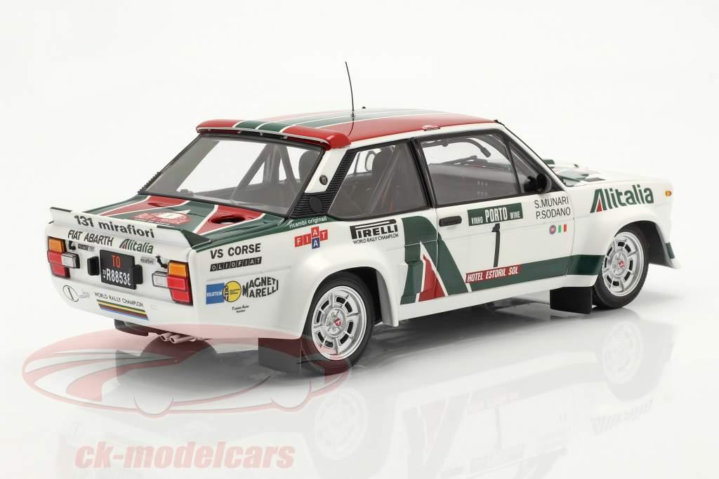 Fiat 131 Abarth #1 Rallye Portugal 1978 Munari, Sodano 1:18 Kyosho