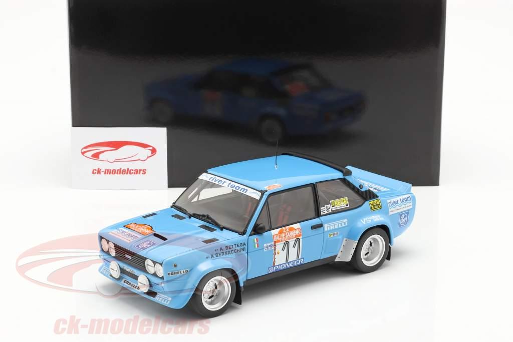 Fiat 131 Abarth #11 Sexto Rallye SanRemo 1980 Bettega, Bernacchini 1:18 Kyosho