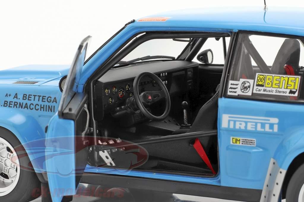 Fiat 131 Abarth #11 6e Rallye SanRemo 1980 Bettega, Bernacchini 1:18 Kyosho