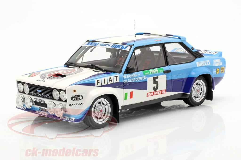 Fiat 131 Abarth #5 Sieger Rallye Portugal 1980 Röhrl, Geistdörfer 1:18 Kyosho