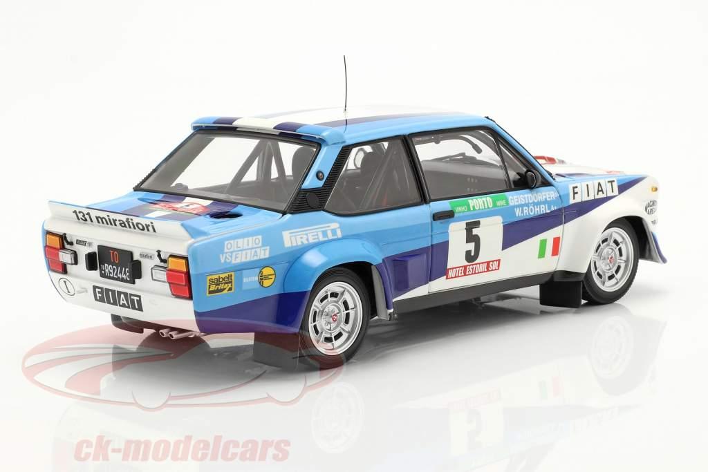 Fiat 131 Abarth #5 ganador Rallye Portugal 1980 Röhrl, Geistdörfer 1:18 Kyosho