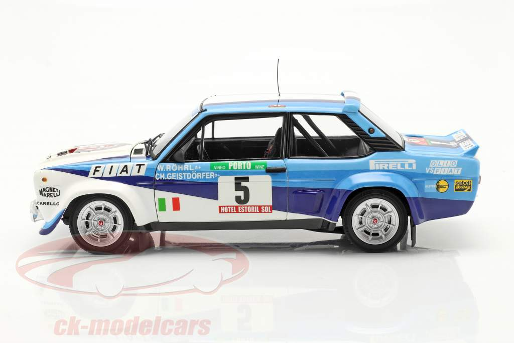 Fiat 131 Abarth #5 winnaar Rallye Portugal 1980 Röhrl, Geistdörfer 1:18 Kyosho
