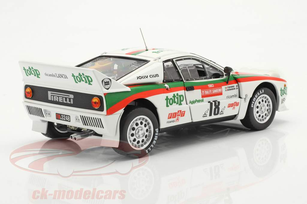 Lancia 037 Rally #18 5 ° Rallye SanRemo 1983 Biasion, Siviero 1:18 Kyosho