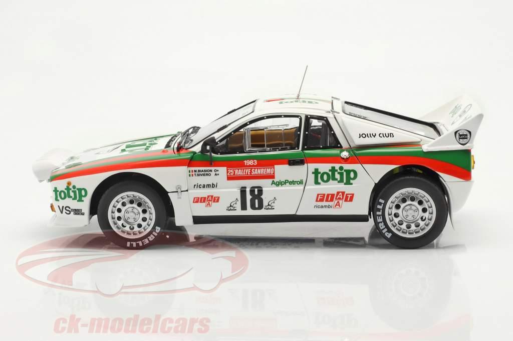 Lancia 037 Rally #18 5e Rallye SanRemo 1983 Biasion, Siviero 1:18 Kyosho