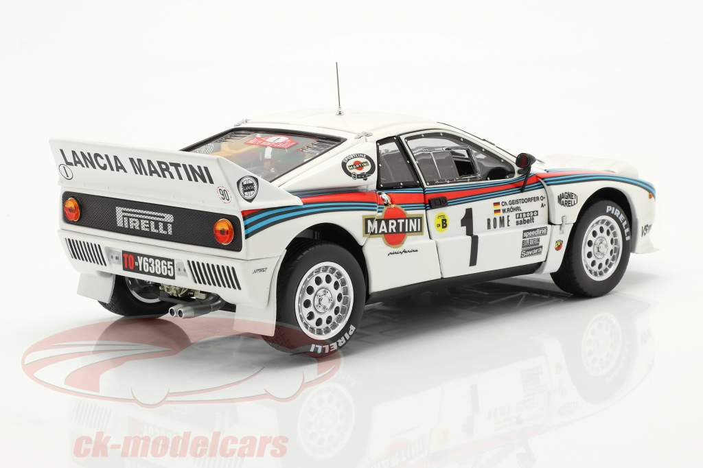 Lancia 037 Rally #1 Sieger Rallye Monte Carlo 1983 Röhrl, Geistdörfer 1:18 Kyosho