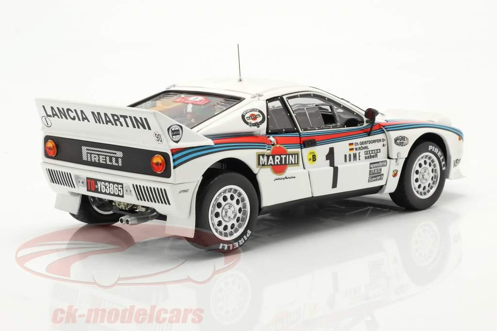 Lancia 037 Rally #1 vincitore Rallye Monte Carlo 1983 Röhrl, Geistdörfer 1:18 Kyosho
