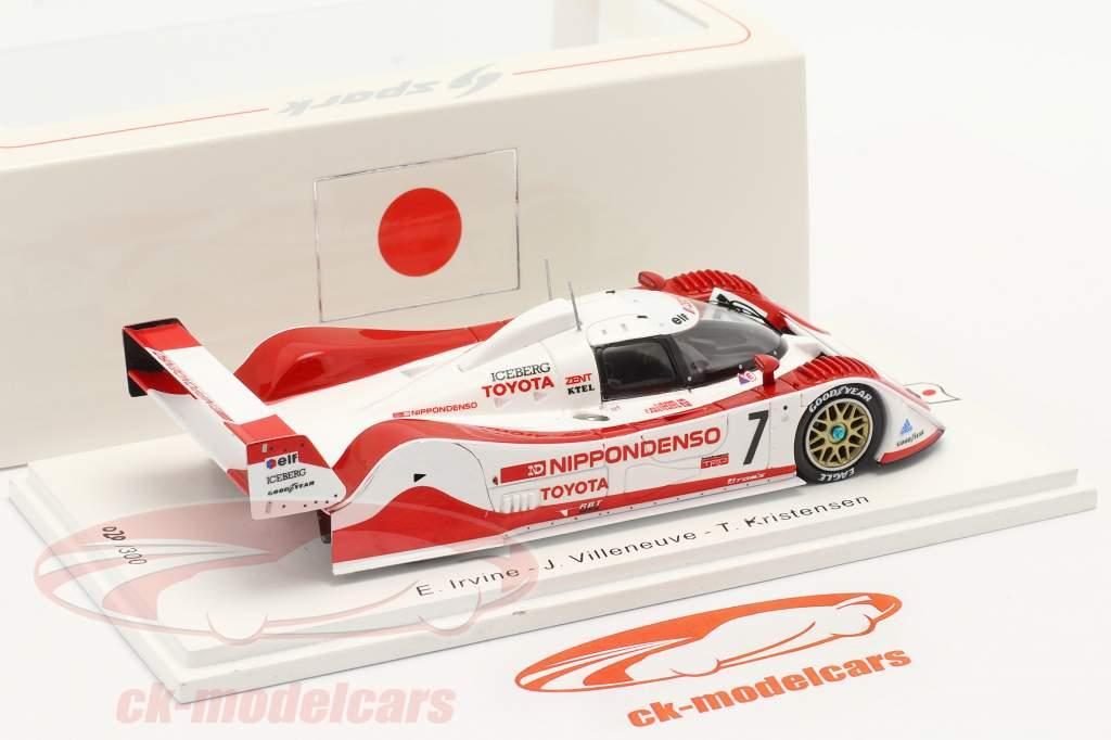 Toyota TS010 #7 Tercero 500km Mine 1992 Irvine, Villeneuve, Kristensen 1:43 Spark