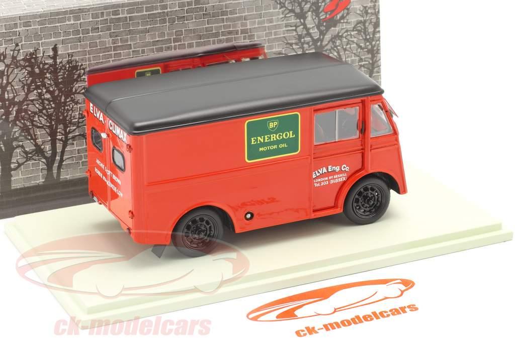 Morris PV Soutien un camion Elva Engineering Année de construction 1947 rouge 1:43 Spark