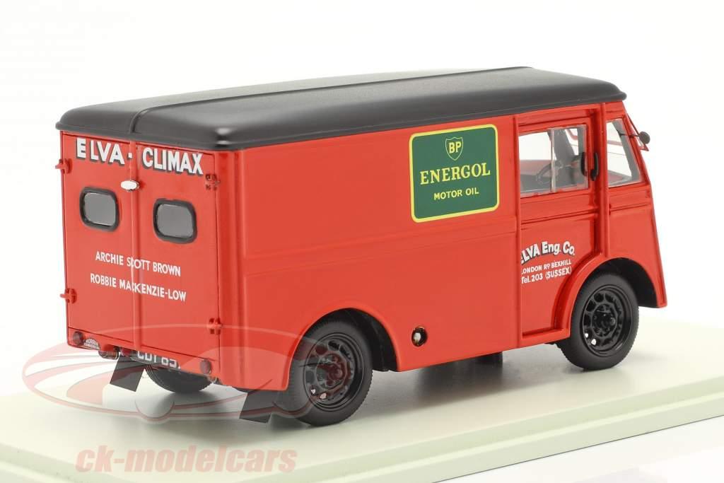 Morris PV Apoio, suporte Caminhão Elva Engineering Ano de construção 1947 vermelho 1:43 Spark