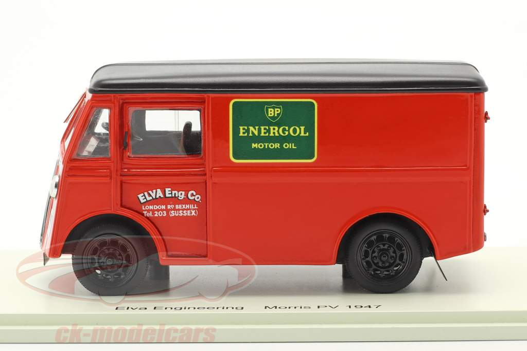 Morris PV Support Lastbil Elva Engineering Byggeår 1947 rød 1:43 Spark