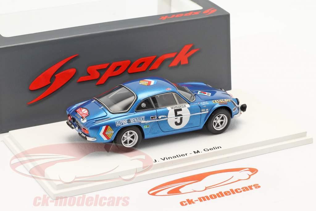 Alpine A110 #5 9th Rallye Monte Carlo 1971 Vinatier, Gelin 1:43 Spark