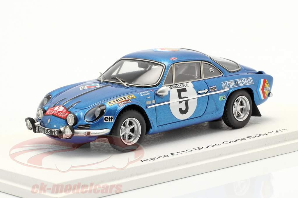 Alpine A110 #5 9. Rallye Monte Carlo 1971 Vinatier, Gelin 1:43 Spark
