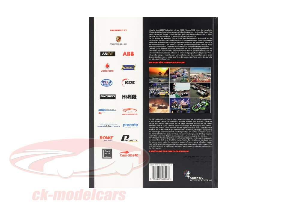 livre Porsche Sport 2020 (Gruppe C Motorsport Verlag)