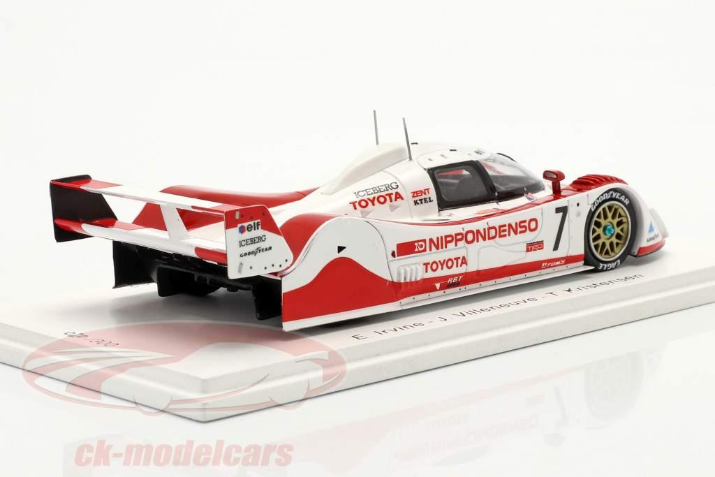 Toyota TS010 #7 3ª 500km Mine 1992 Irvine, Villeneuve, Kristensen 1:43 Spark
