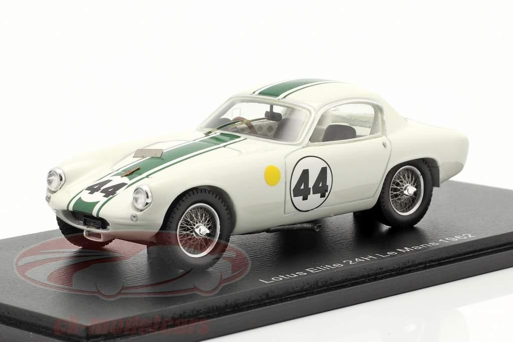Lotus Elite #44 vencedora GT1.3 24h LeMans 1962 Hobbs, Gardner 1:43 Spark