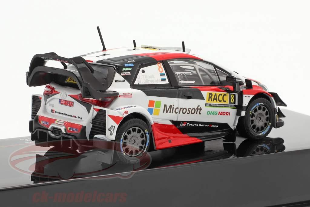 Toyota Yaris WRC #8 2 ° Rallye Catalunya Campione del mondo 2019 Tänak, Järveoja 1:43 Ixo