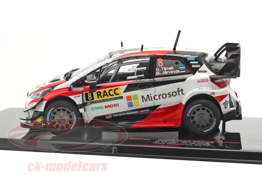 Toyota Yaris WRC #8 2e Rallye Catalunya Champion du monde 2019 Tänak, Järveoja 1:43 Ixo
