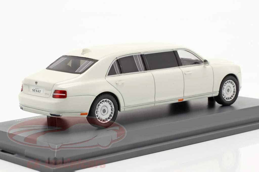 Aurus Senat Statlig limousine Rusland Vladimir Putin 2018 hvid 1:43 Schuco