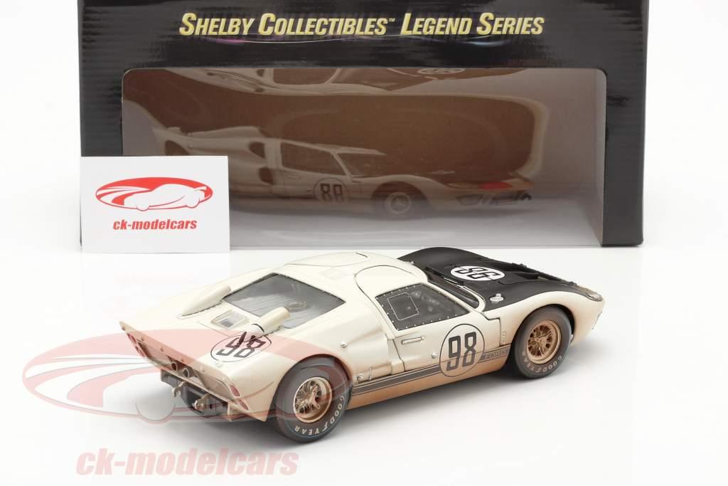 Ford GT40 MK II #98 Ganador 24h Daytona 1966 Dirty Version 1:18 ShelbyCollectibles