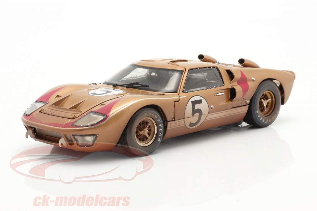 Ford GT40 MK II #5 Tercero 24h LeMans 1966 Dirty Version 1:18 ShelbyCollectibles
