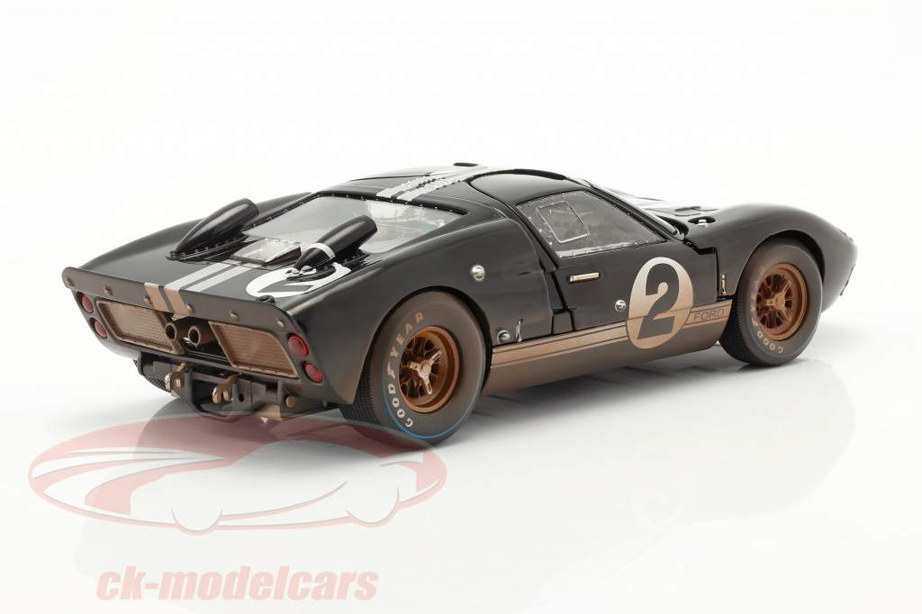 Ford GT40 MK II #2 Vencedora 24h LeMans 1966 Dirty Version 1:18 ShelbyCollectibles