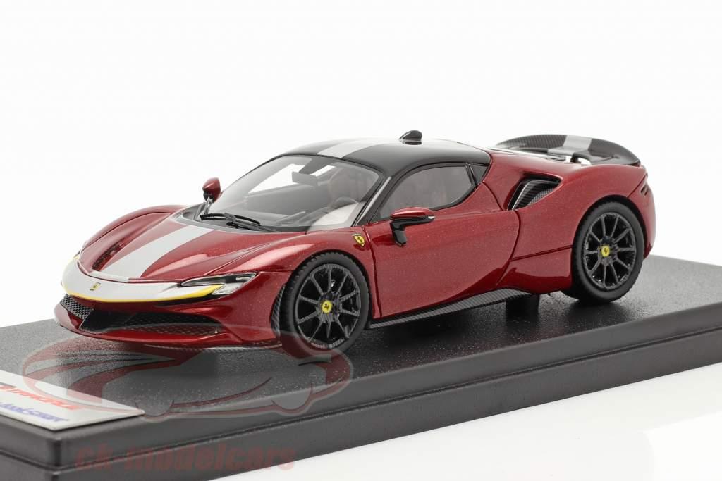 Ferrari SF90 Stradale Bouwjaar 2019 fiorano rood / zwart 1:43 LookSmart