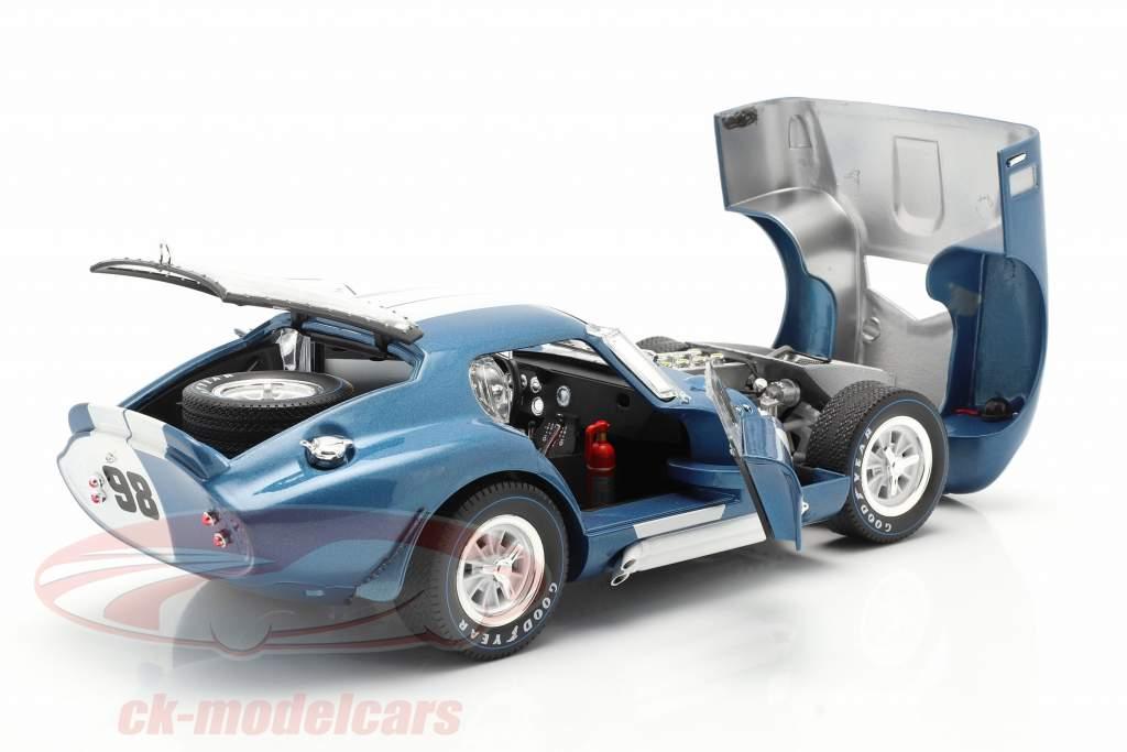 Shelby Cobra Daytona Coupe #98 Baujahr 1965 blau / weiß 1:18 ShelbyCollectibles